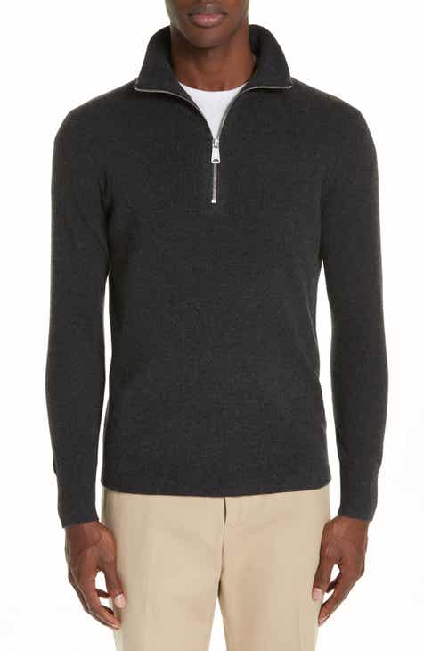 e006b0e9dfb7 Burberry Hendon Quarter Zip Cashmere Sweater
