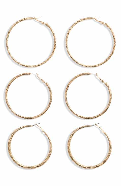 8 Other Reasons Arika 3-Pair Hoop Earring Set