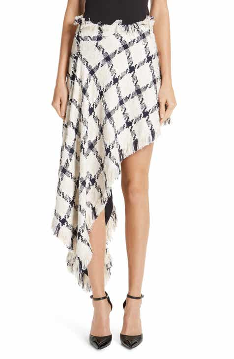 MONSE Asymmetrical Tweed Skirt by MONSE