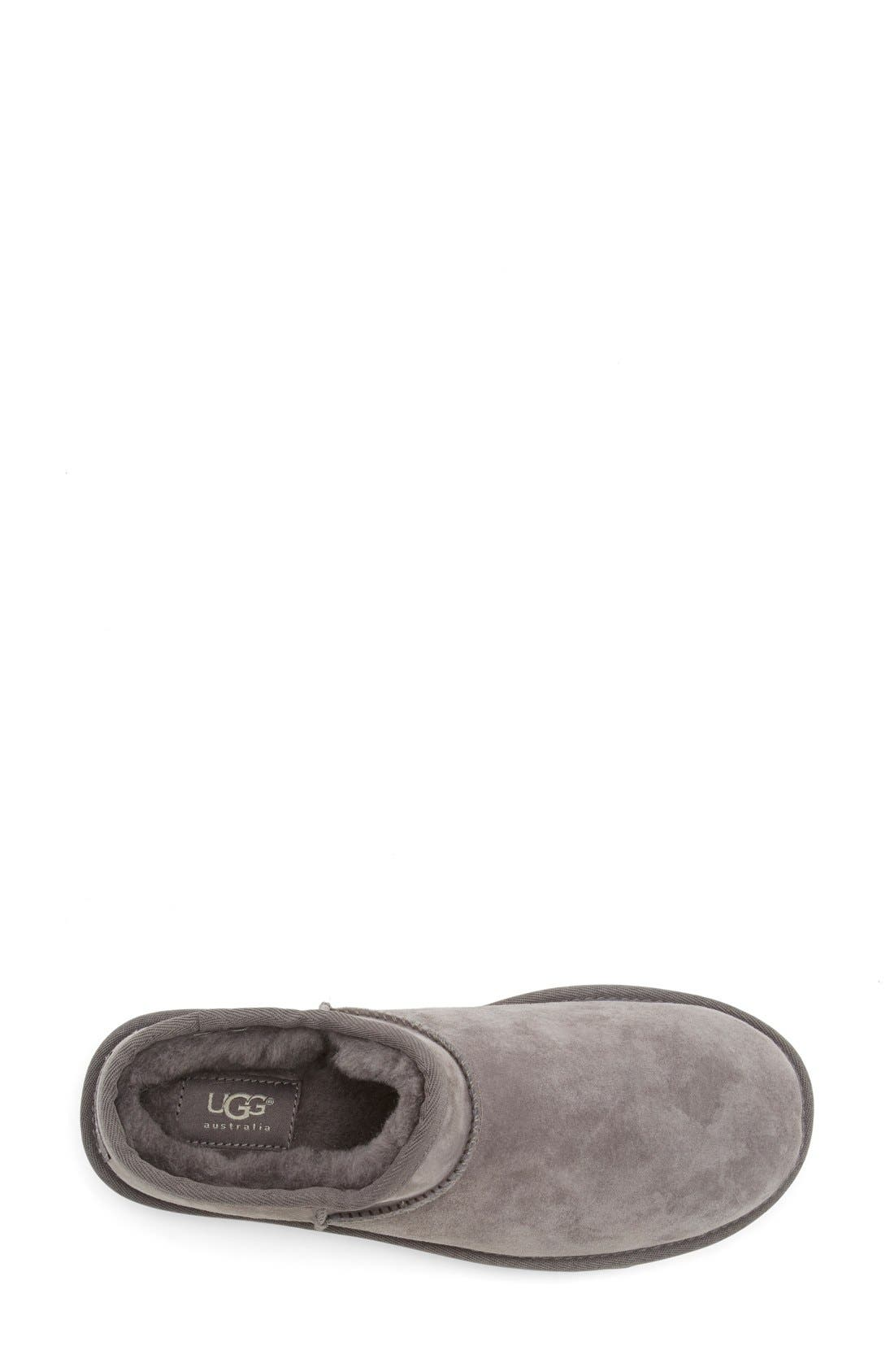 Classic Water Resistant Slipper,                             Alternate thumbnail 3, color,                             Grey