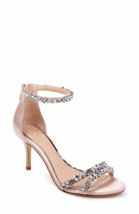 b27db12ac9c Jewel Badgley Mischka Darlene Embellished Ankle Strap Sandal (Women)