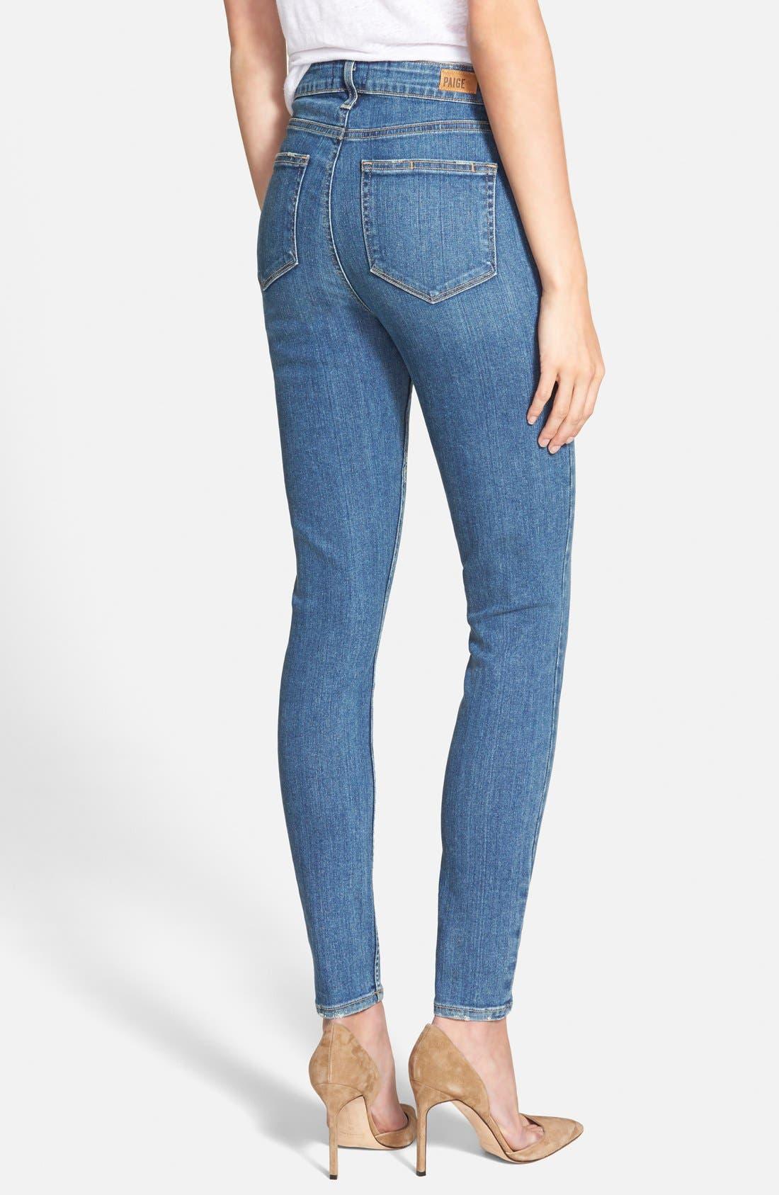 Alternate Image 2  - Paige Denim 'Margo' High Rise Ultra Skinny Jeans (Mira)
