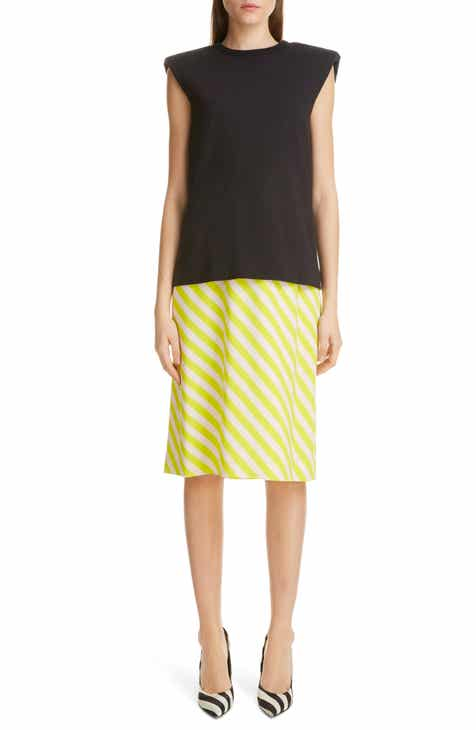 Dries Van Noten Layered Bias Stripe Dress