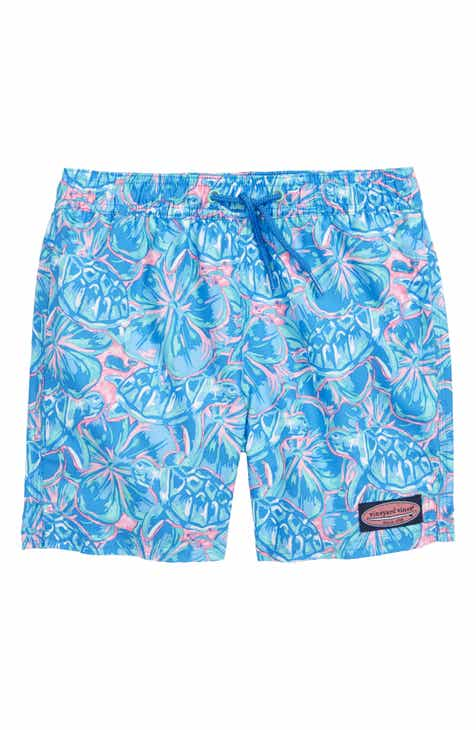 f5bdcba2158a6 vineyard vines Tropical Turtles Chappy Swim Trunks (Toddler Boys   Little  Boys)