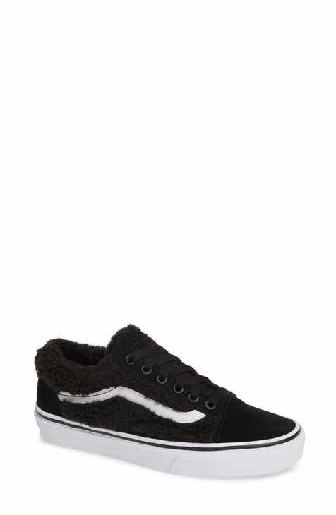 Vans Old Skool Synthetic Faux Fur Sneaker (Women) 103e9a6bf5d1c
