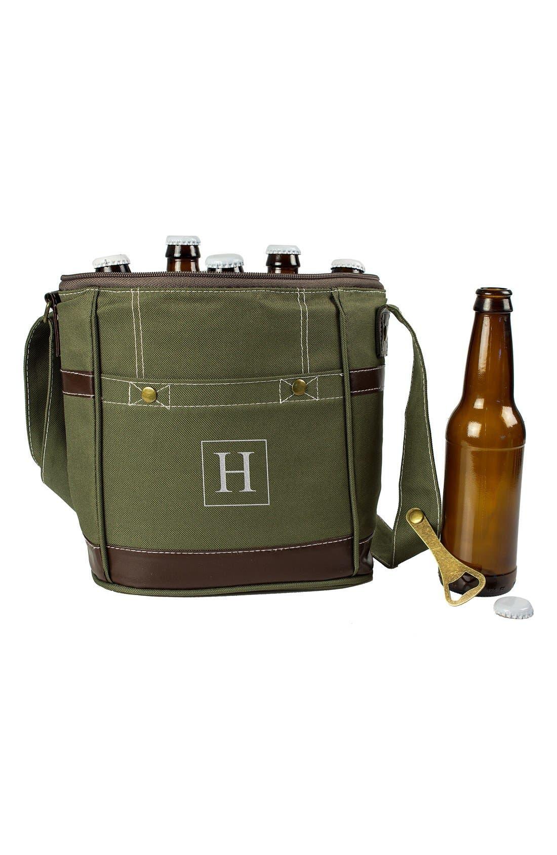 Monogram Six-Bottle Beer Cooler,                             Alternate thumbnail 2, color,