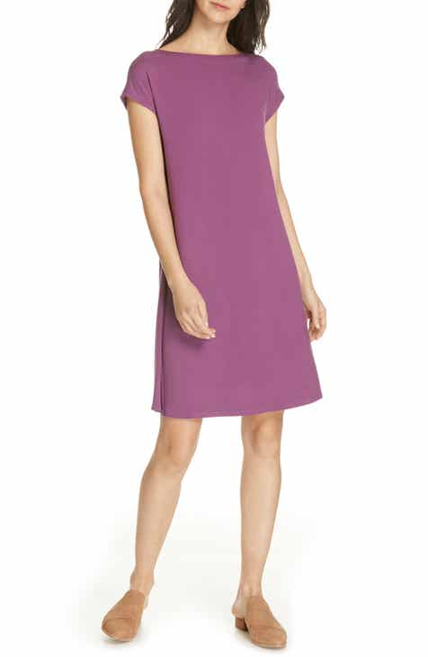 d2c1bd348f Eileen Fisher Twist Back Dress (Regular   Petite)