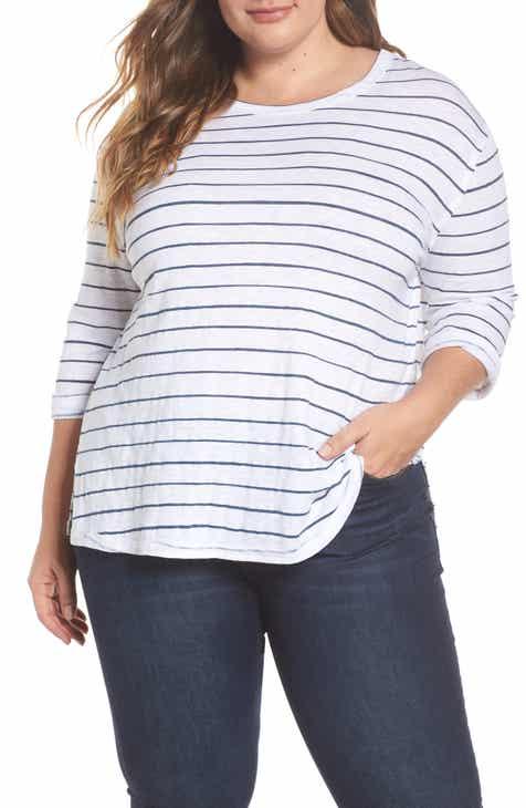 bf62ceeb2ff Caslon® Relaxed Stripe Tee (Plus Size)