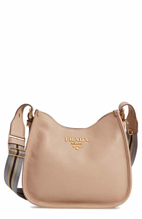 Prada Daino Calfskin Leather Hobo
