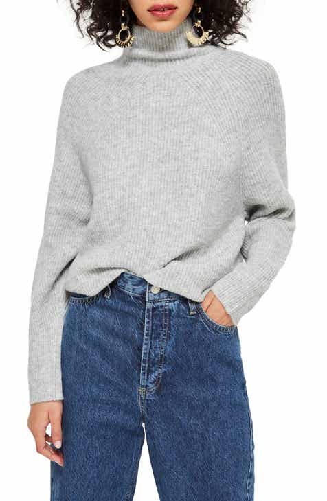 Topshop Raglan Turtleneck Neck Sweater 66b606245