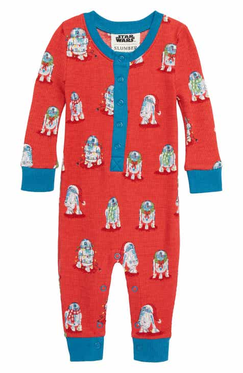 318c545eeb Munki Munki x Star Wars Christmas R2D2 Fitted One-Piece Pajamas (Baby)