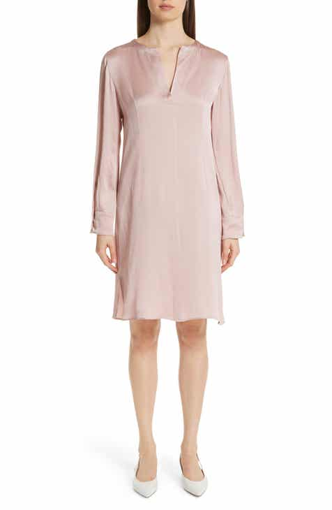 57d2bdb0b52ee Mansur Gavriel Hammered Silk Shift Dress