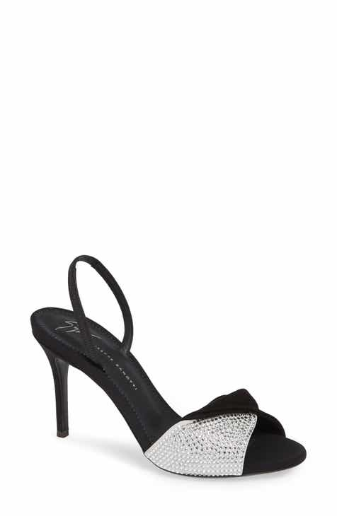 cc23da1bbe Giuseppe Zanotti Swarovski Crystal Embellished Slingback Sandal (Women)