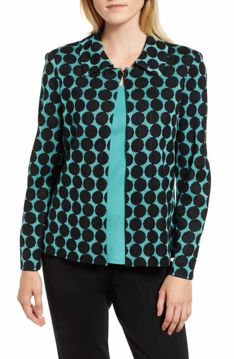 Ming Wang Dot Knit Jacket by Ming Wang