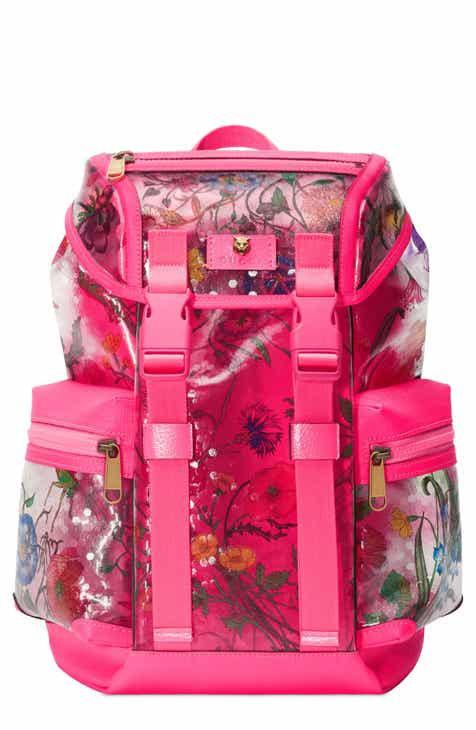 Gucci Floral Print Small Backpack 0b5e15e27a62f