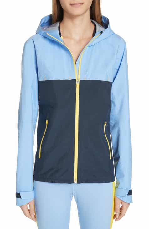 Tory Sport Water Resistant Double Hood Running Jacket by TORY SPORT