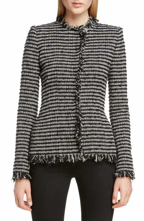 Alexander McQueen Frayed Tweed Jacket by ALEXANDER MCQUEEN