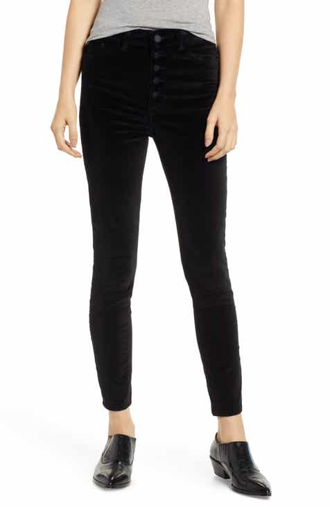 DL1961 Chrissy Ultra High Waist Velveteen Ankle Skinny Jeans (Lost) by DL 1961