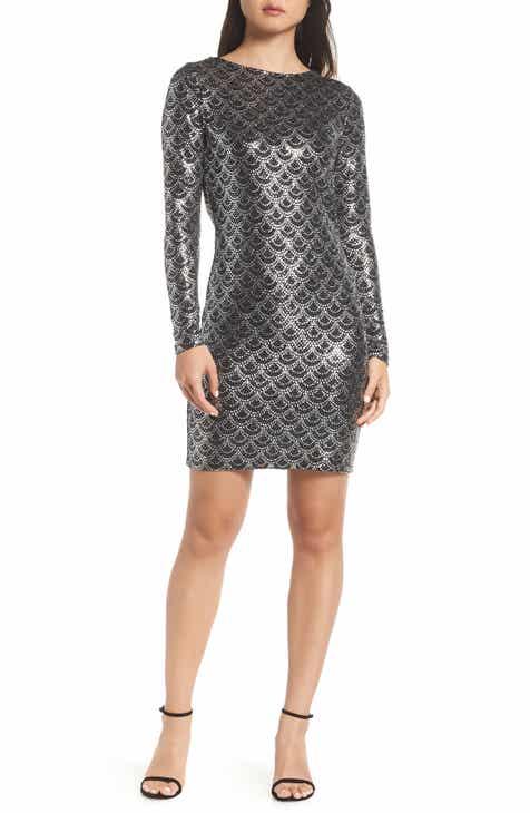 Michael Kors Glitter Cowl Back Sheath Dress