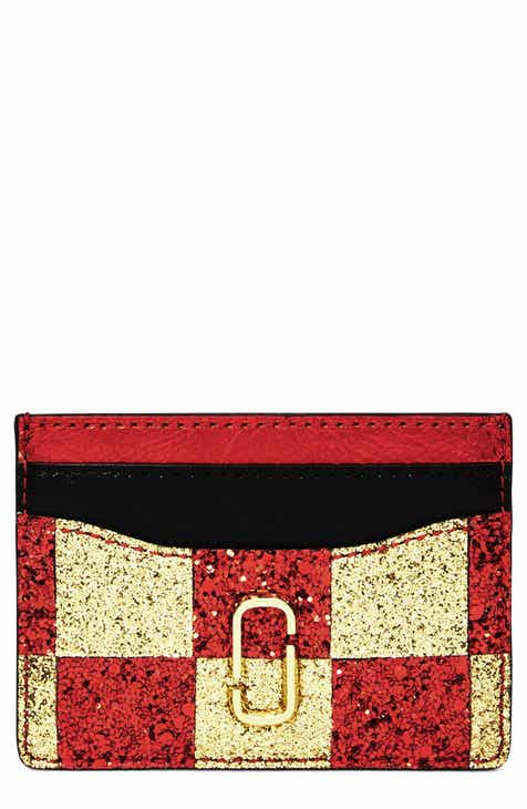 6e4968976655 MARC JACOBS Snapshot Glitter Checkerboard Card Case