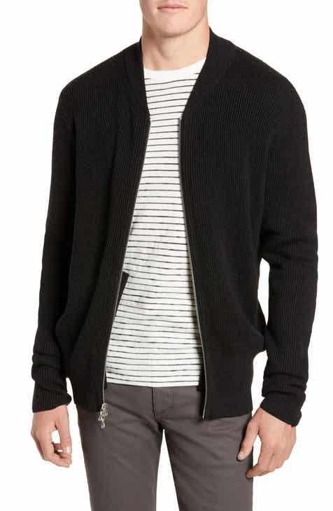 b6cb378498 rag   bone Andrew Zip Front Merino Wool Sweater