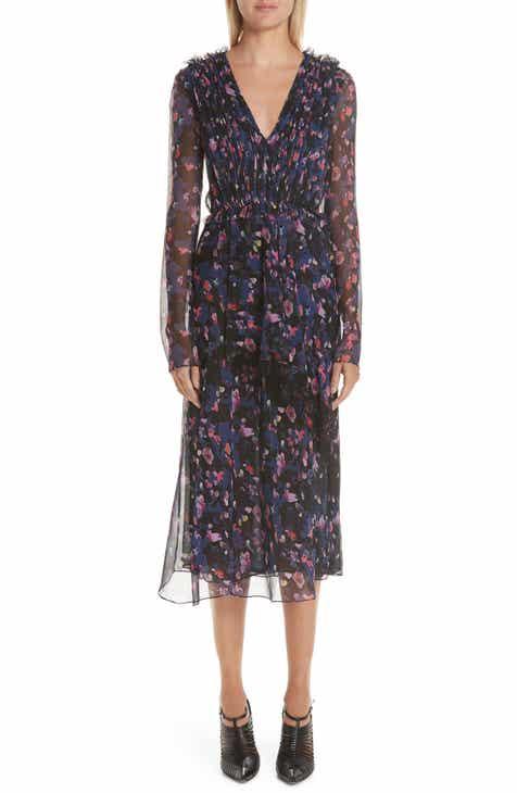 afe47e9a91 Jason Wu Print Silk Chiffon Midi Dress