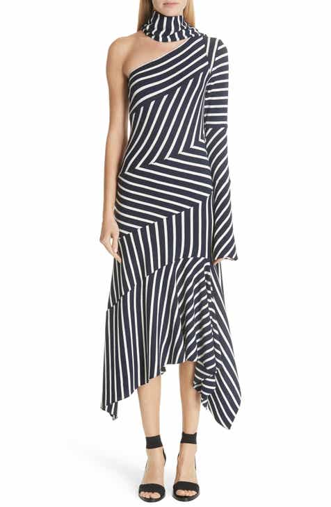 MONSE Asymmetrical Stripe Jersey Dress by MONSE