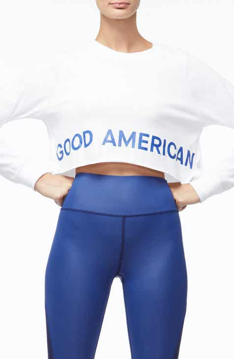 Good American Crop Sweatshirt (Regular & Plus Size) by GOOD AMERICAN