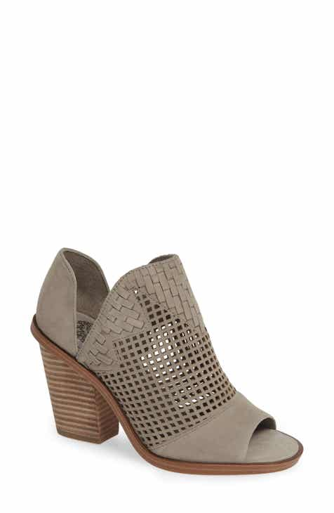 1f6ac075b40 Vince Camuto Fritzey Perforated Peep Toe Bootie (Women)