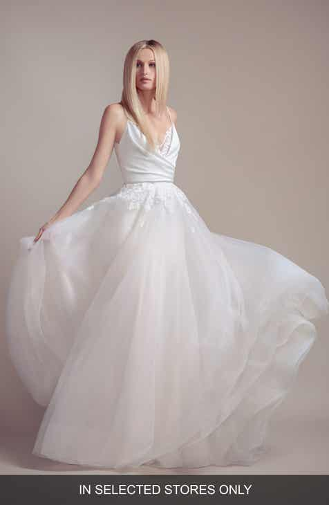 Blush By Hayley Paige Fawn Crepe Wedding Dress With Tulle Overskirt