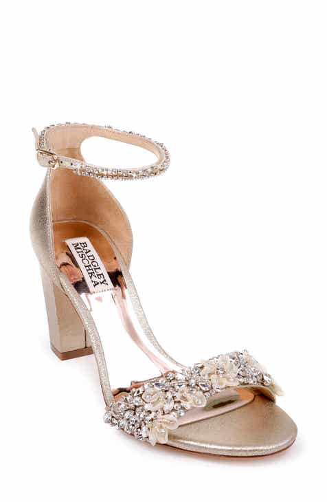 0818650816a2 Badgley Mischka Finesse Embellished Ankle Strap Sandal (Women)