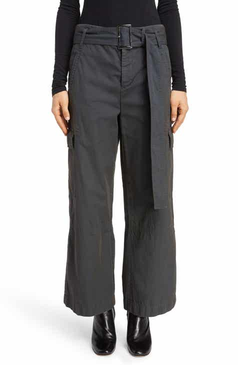 Brunello Cucinelli Tab Front Wide Leg Cuff Pants by BRUNELLO CUCINELLI