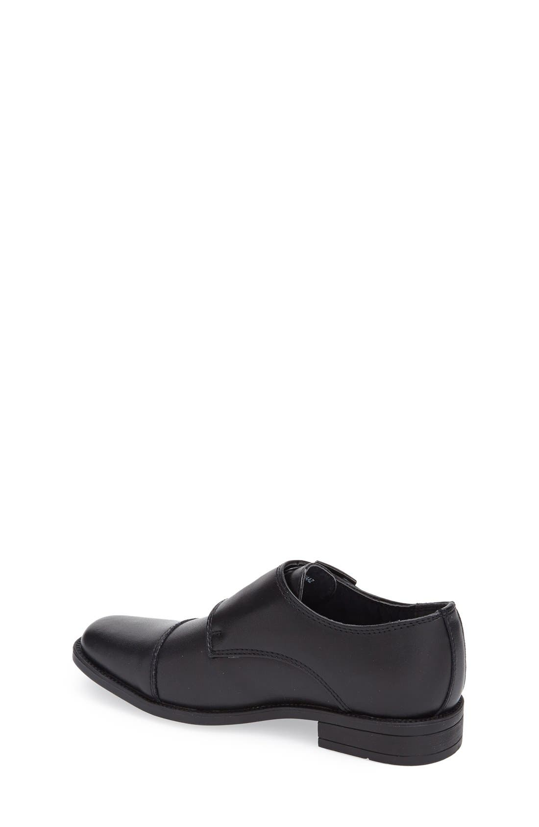 Double Monk Strap Shoe,                             Alternate thumbnail 2, color,                             Black