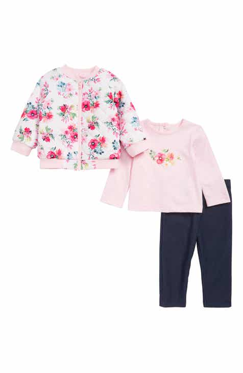 Little Me Reversible Jacket, T-Shirt & Leggings Set (Baby)