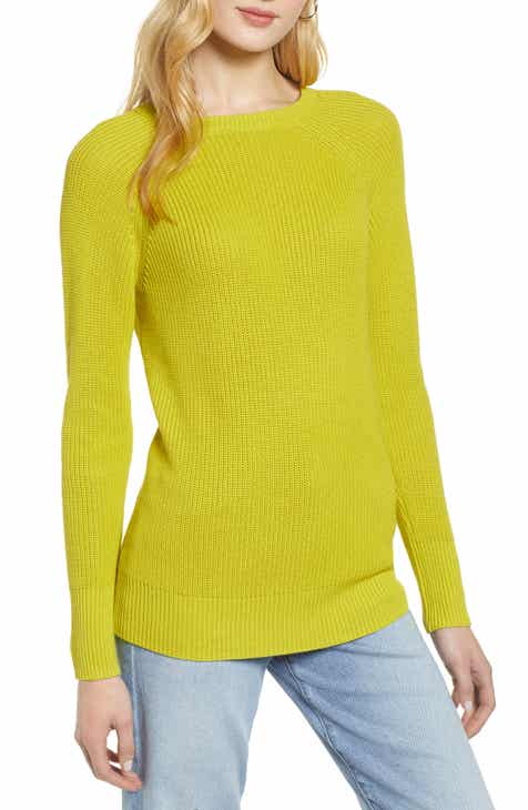 018f4f2597 Halogen® Cross Back Sweater (Regular   Petite)