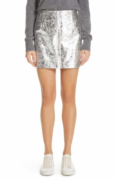 Simon Miller Willow Metallic Miniskirt by SIMON MILLER