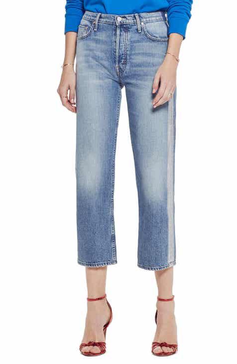 4b021b86e2676 MOTHER The Thrasher Side Stripe Straight Leg Jeans