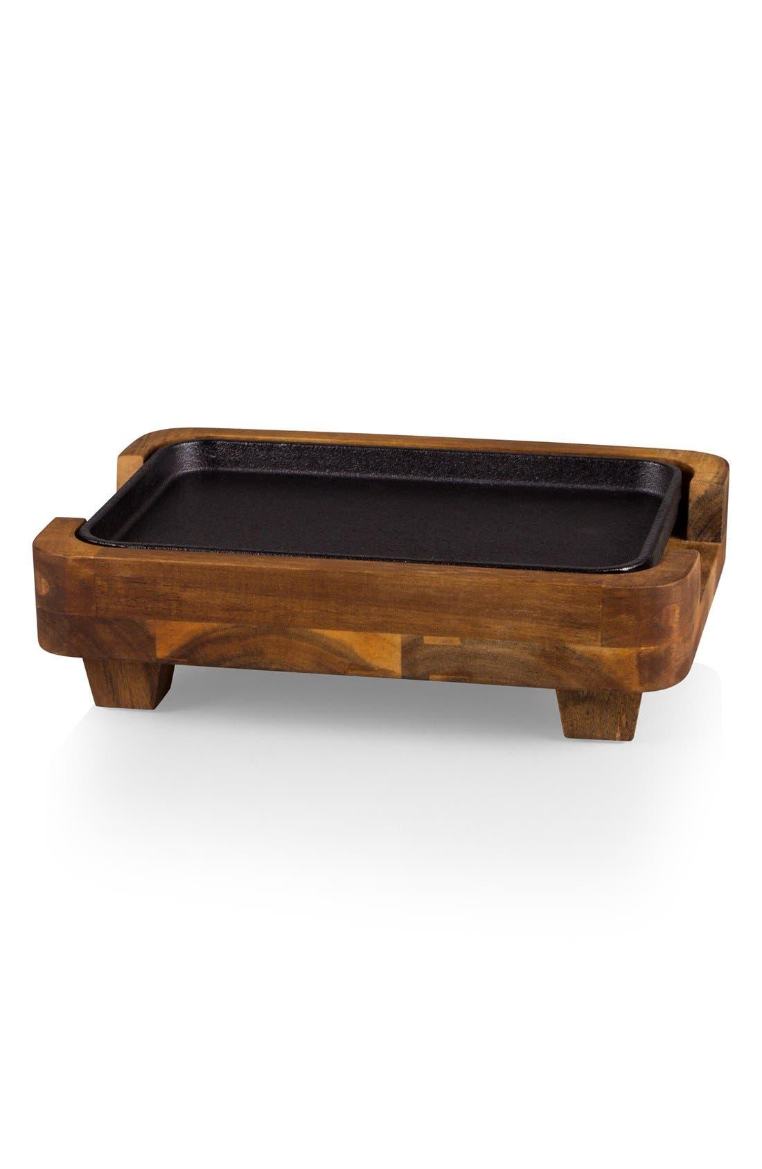 Small Raccolta Cast Iron Warming Tray,                         Main,                         color, Brown