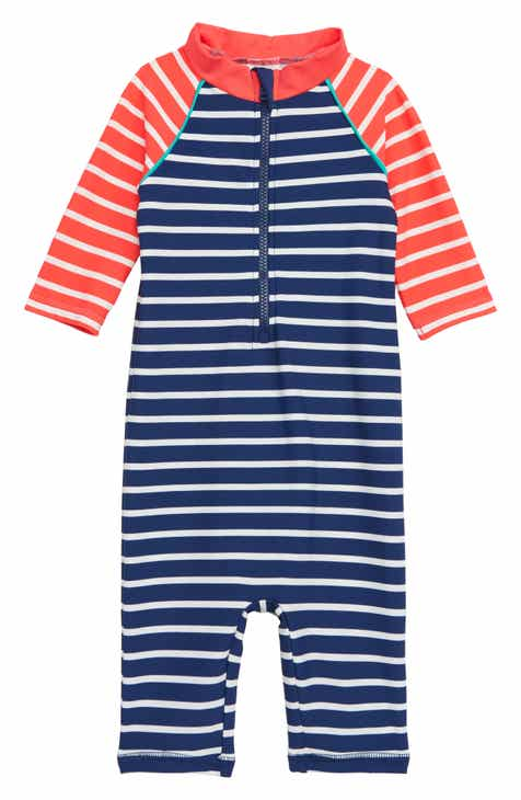 Mini Boden Fun One-Piece Rashguard Swimsuit (Baby)