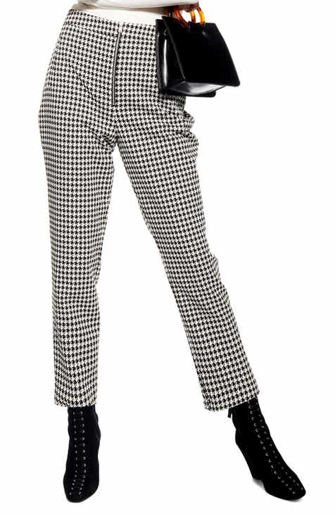 Topshop Houndstooth Trousers by TOPSHOP
