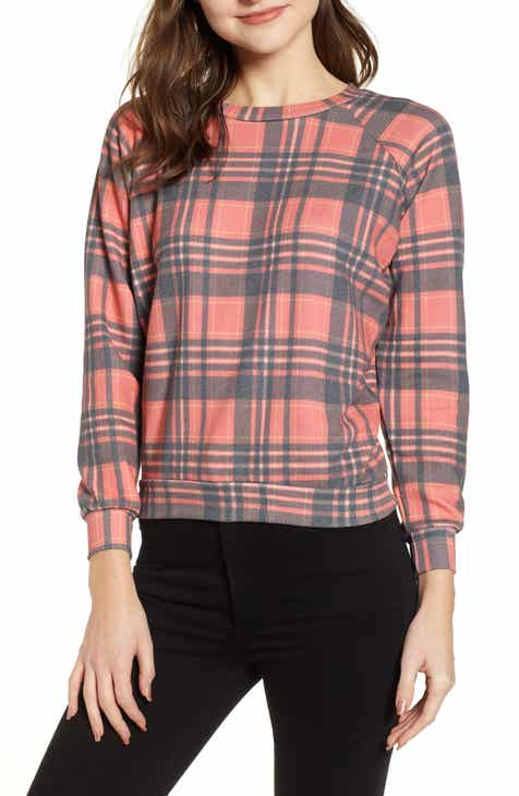 3c11462879138 Wildfox Sweetheart Plaid Sweatshirt