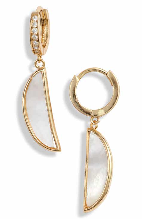 c56e0795f87 Argento Vivo Mother of Pearl Drop Earrings