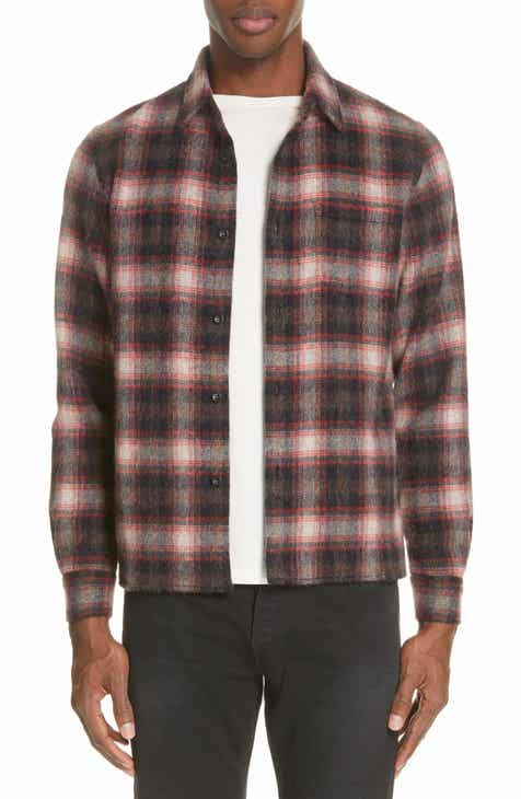 John Elliott Sly Straight Hem Wool Blend Flannel Shirt 8f63a19d34c