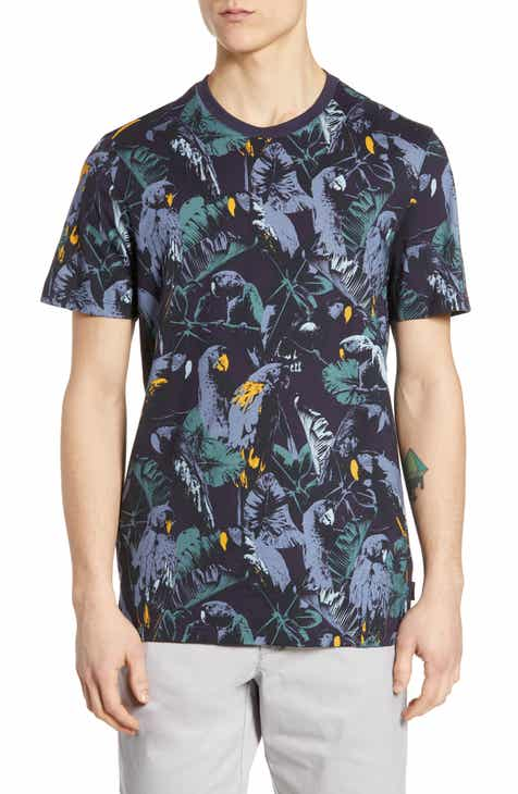 8a7b76de2 Ted Baker London Spida Slim Fit Tree Print T-Shirt