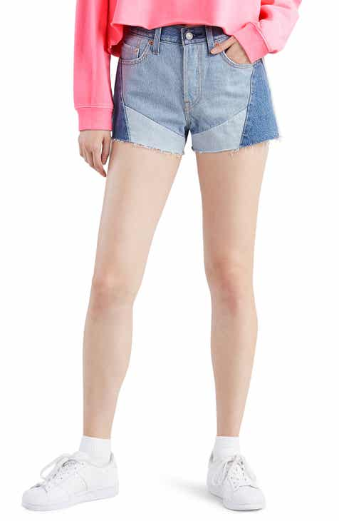 Levi's® 501® Colorblock High Waist Cutoff Shorts (Dream Team)