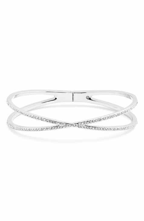 9a1b4e597cb Nordstrom Pavé Crisscross Hinged Cuff Bracelet