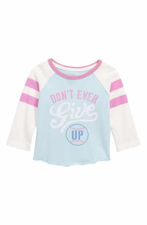 a46dcb430328 Peek Don t Ever Give Up Graphic Baseball T-Shirt (Baby)