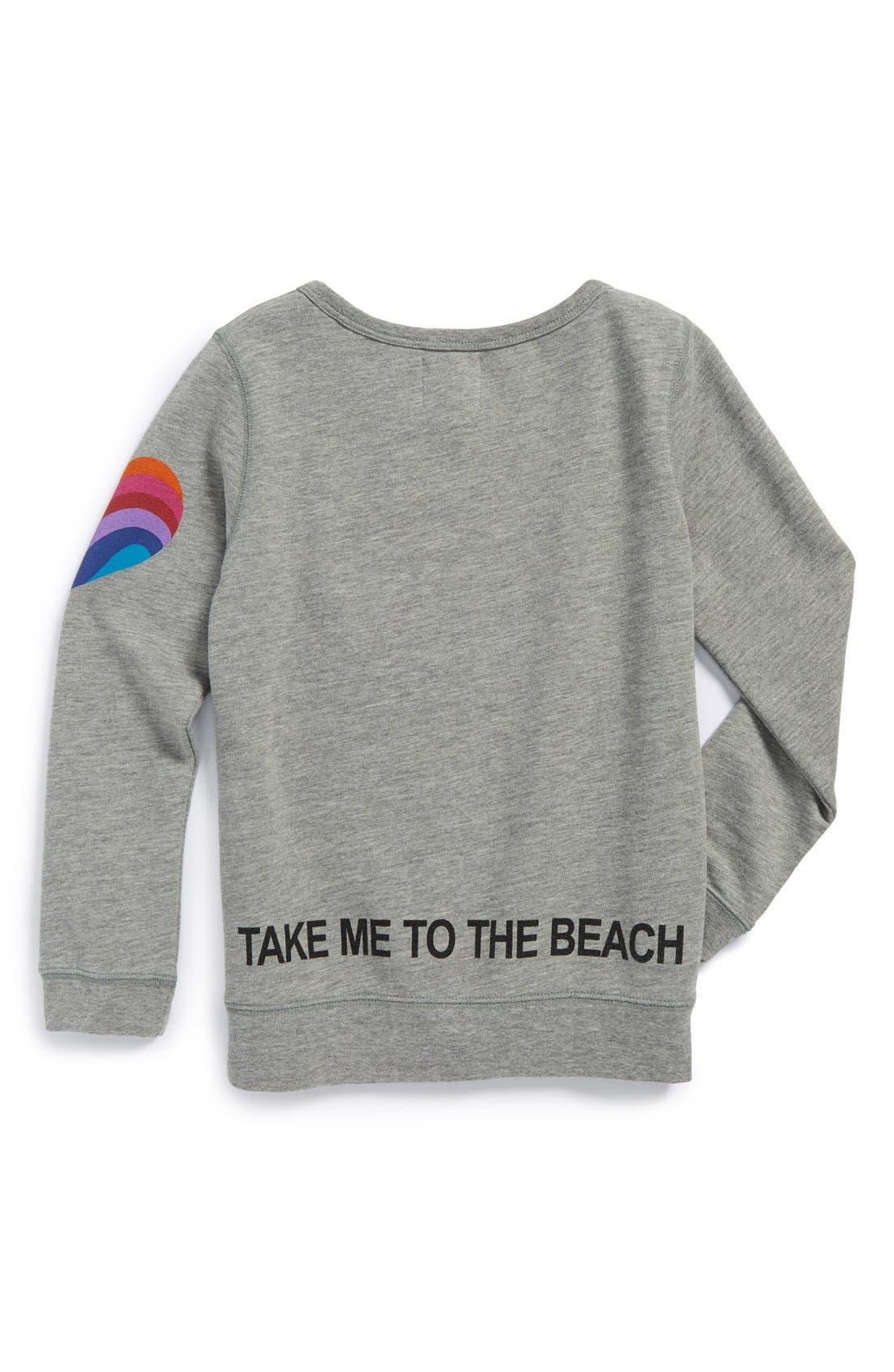 Alternate Image 2  - Peek 'Summer Please' Graphic Sweatshirt (Toddler Girls, Little Girls & Big Girls)