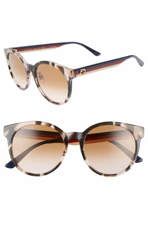 200afee079 Gucci 55mm Round Sunglasses