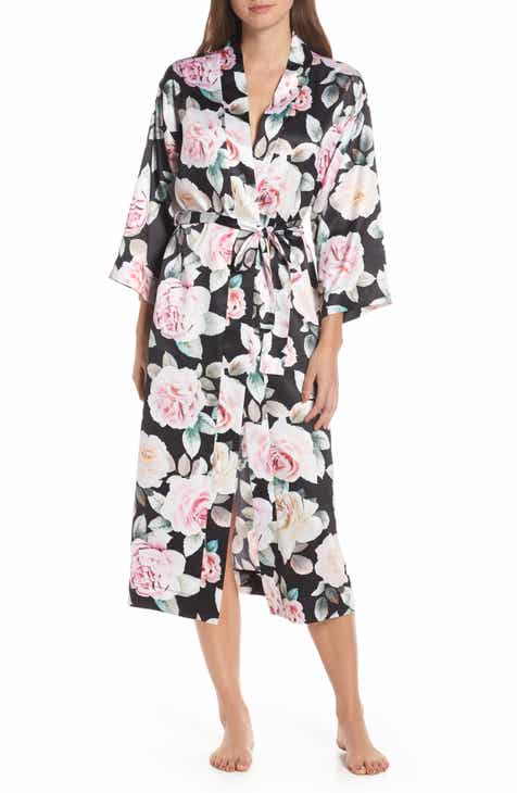 Homebodii Amalia Lace Trim Robe by HOMEBODII